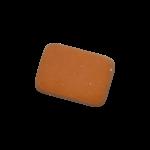 Скачать PNG картинку на прозрачном фоне Стерка-оранжевая, квадратная с закругленными краями, вид сверху