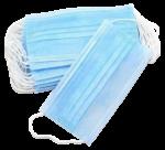 Скачать PNG картинку на прозрачном фоне Стопка одноразовых голубых масок