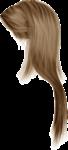 Скачать PNG картинку на прозрачном фоне Светлые женские длинные волосы, вид сбоку