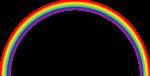 Скачать PNG картинку на прозрачном фоне Тонкая нарисованная радуга