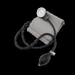 Скачать PNG картинку на прозрачном фоне Тонометр с серой манжетой, вид сверху