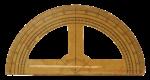 Скачать PNG картинку на прозрачном фоне Транспортир деревянный