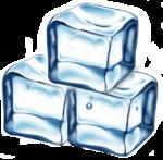 Скачать PNG картинку на прозрачном фоне Три кусочка льда нарисвонные