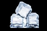 Скачать PNG картинку на прозрачном фоне Три кусочка льда вместе
