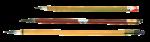Скачать PNG картинку на прозрачном фоне Три разные кисти для рисования с острым ворсом