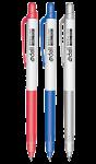 Скачать PNG картинку на прозрачном фоне Три шариковых ручки разных цветов рядом