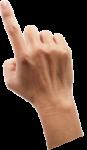 Скачать PNG картинку на прозрачном фоне Указательным пальцем нажимает