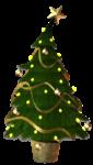 Скачать PNG картинку на прозрачном фоне в горшке, нарисованная новогодняя елка