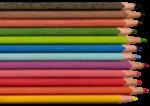 Скачать PNG картинку на прозрачном фоне Вид сверху, разноцветные заточенные карандаши