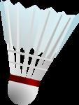 Скачать PNG картинку на прозрачном фоне Воланчик для бадминтона, перьевой с красной каемкой