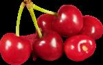 Скачать PNG картинку на прозрачном фоне Ягоды черешни, красные, рядом