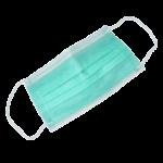 Скачать PNG картинку на прозрачном фоне Зеленая обычная медицинская маска