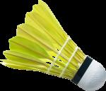 Скачать PNG картинку на прозрачном фоне Зеленый воланчик для бадминтона с ченой каемкой