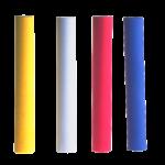 Скачать PNG картинку на прозрачном фоне Желтый, белый, красный и синий мелок с круглым сечением