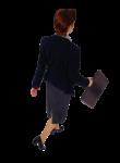 Скачать PNG картинку на прозрачном фоне Женщина идет, вид сзади