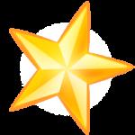 Скачать PNG картинку на прозрачном фоне Золотая пятиконечная звездочка
