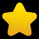 Скачать PNG картинку на прозрачном фоне Звезда пятиконечная, с закругленными углами