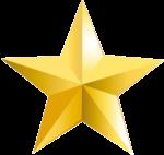 Скачать PNG картинку на прозрачном фоне Звезда с гранями, золотая